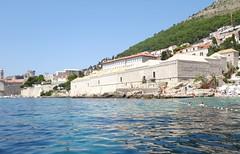 Dubrovnik (Croacia). Dubrovnik vista desde el mar (El Lazareto)