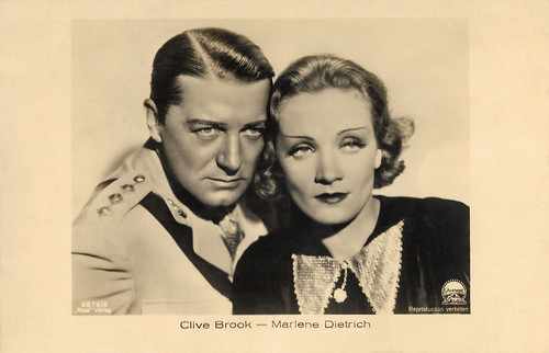Clive Brook and Marlene Dietrich in Shanghai Express (1932)