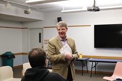 Rep. Ackert held a constituent office hour at the Booth & Dimock Library in Coventry.