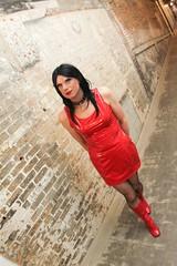 Red PVC Dress 5