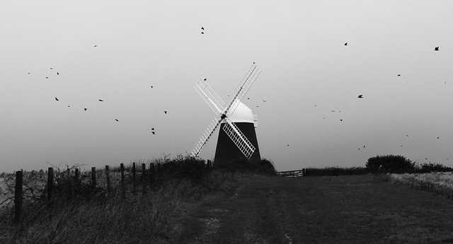 Windmill on a bleak winter's day