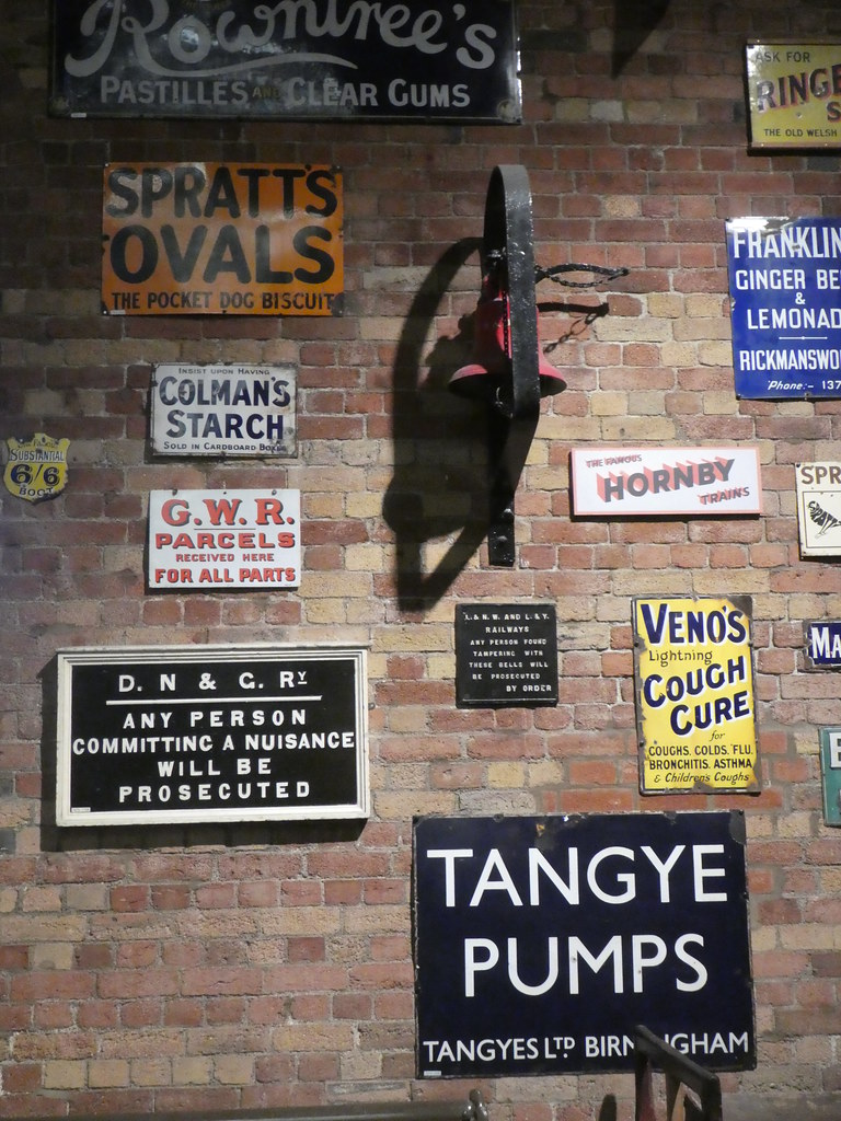 Heritage signs, National Railway Museum, York