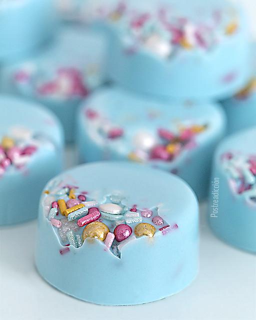 receta bombones azules