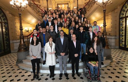 04/02/2020 - El alcalde de San Sebastián recibe a los alumnos internacionales de la Universidad de Deusto