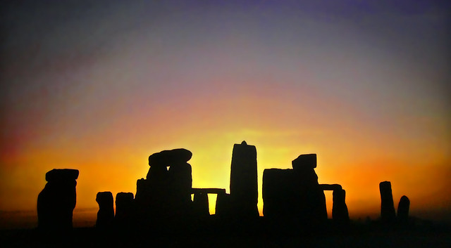 England - Stonehenge at sunset