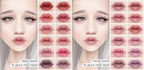 .ARISE Abbie Lipstick & Wendy Lipstick