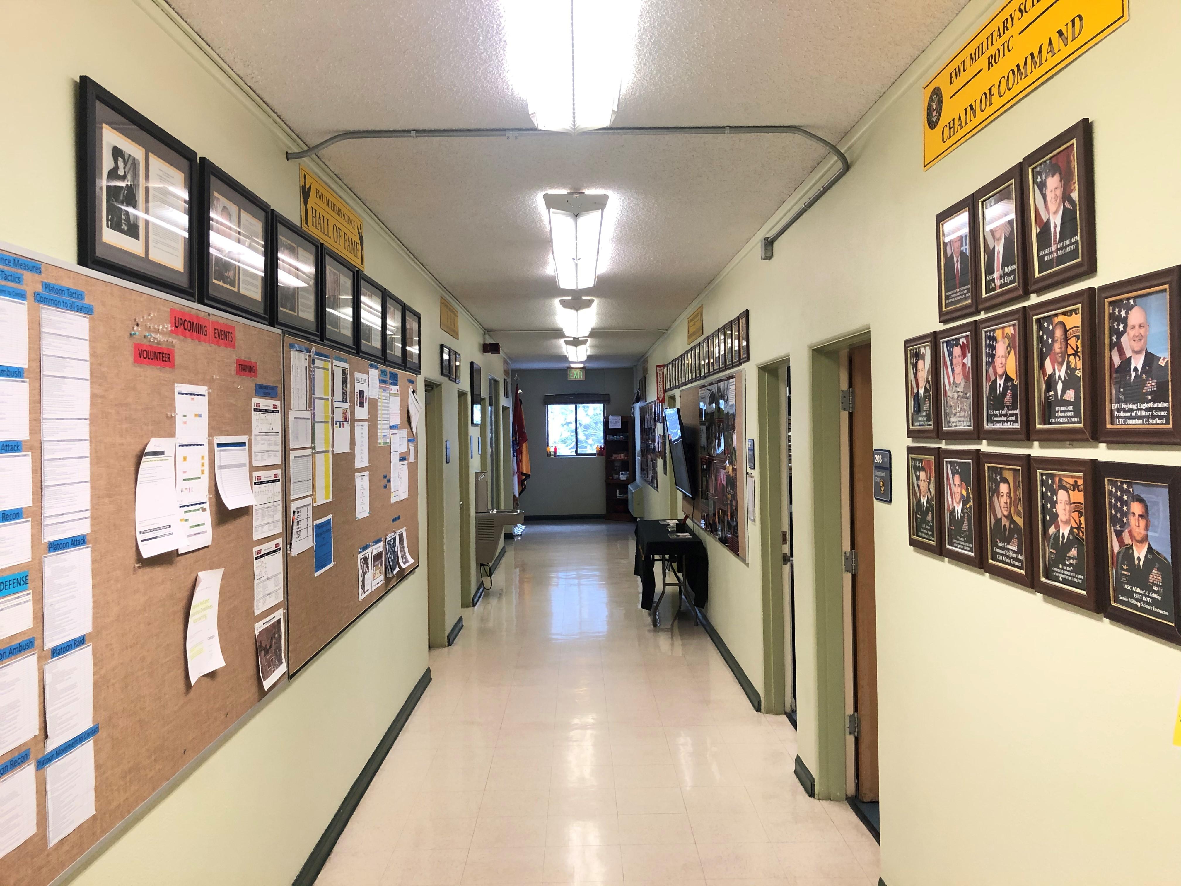 hallway in Cadet Hall