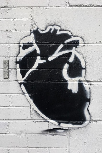 A Stencil Heart (Black and White)
