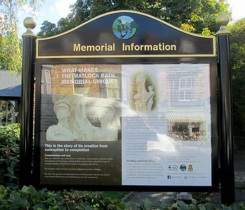 Information, Matlock Bath War Memorial