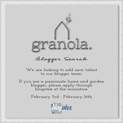 Granola. Blogger Search 2020!