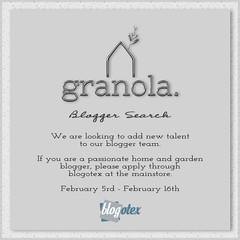 Granola. Blogger Search 2020!