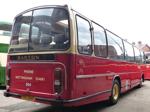 KAU 564V 'Barton Transport' No. 564. Leyland Leopard / Plaxton Supreme /3 on Dennis Basford's railsroadsrunways.blogspot.co.uk'