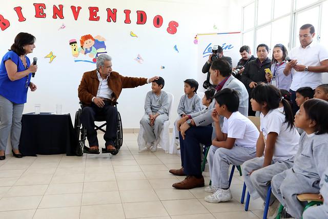 REAPERTURA DE LA ESCUELA DE EDUCACIÓN BÁSICA MANUEL DEL PINO. PEDRO MONCAYO-PICHINCHA, 05 DE FEBRERO DEL 2020.
