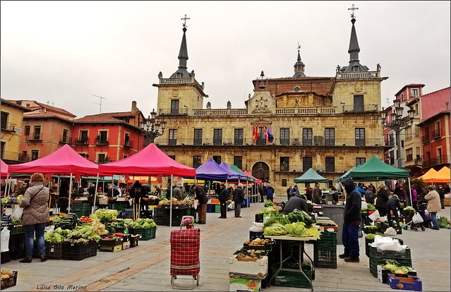 El mercado del miércoles - Plaza Mayor - León