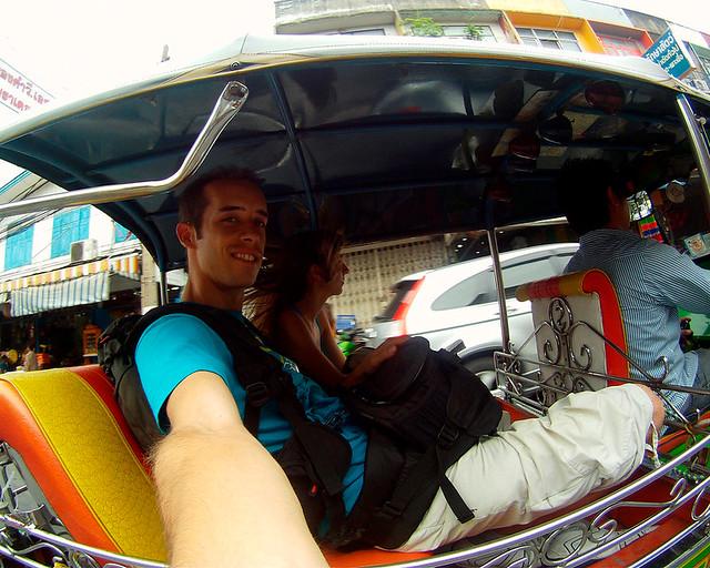 En tuk tuk durante mi viaje por Tailandia