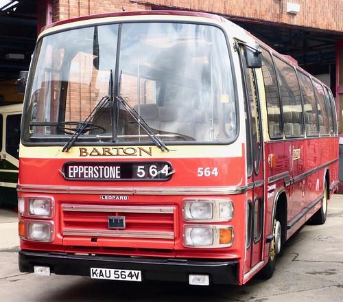 KAU 564V 'Barton Transport' No. 564. Leyland Leopard / Plaxton Supreme /1 on Dennis Basford's railsroadsrunways.blogspot.co.uk'