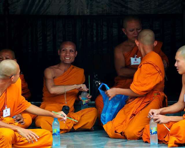 Monjes en Tailandia