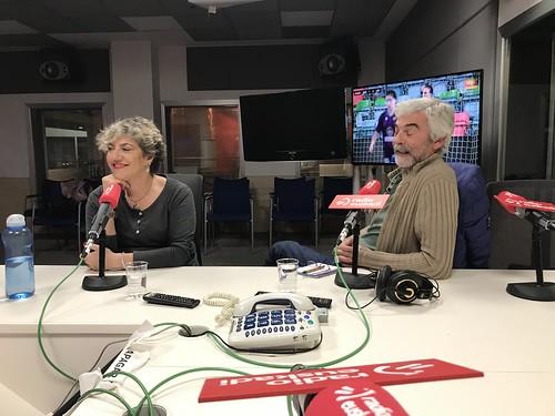 En Ganbara de Radio Euskadi con Loreto Larumbe, Estibalitz Barrón, Pepe Oleaga y María José Carrero