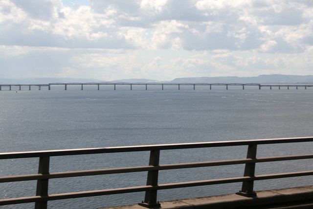 The Tay Bridge from the Tay Road Bridge