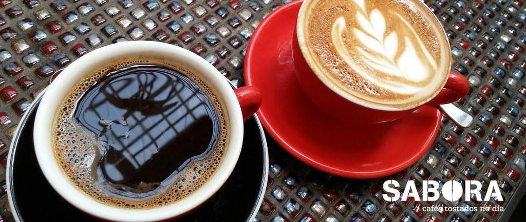 Café con leite e café só sen azucre