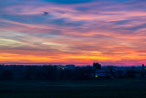 hdr lancastercounty nikon nikond5300 outdoor pennsylvania saudersburg strasburg clouds colorful evening farm geotagged landscape light lights longexposure outside rural sky skyscape sunset