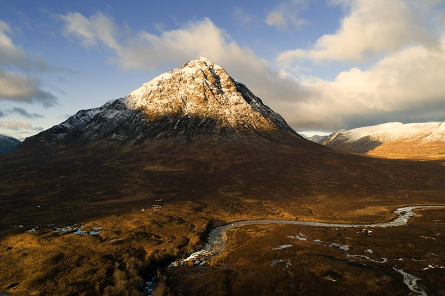 Sunrise at Buachaille Etive Mor