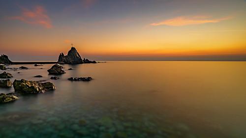 acqua clouds cielo cloud enricocusinatti italy liguria longexposure lungaesposizione mare nuvole rocks sky rocce sea sunset scogli seascape travel viaggi