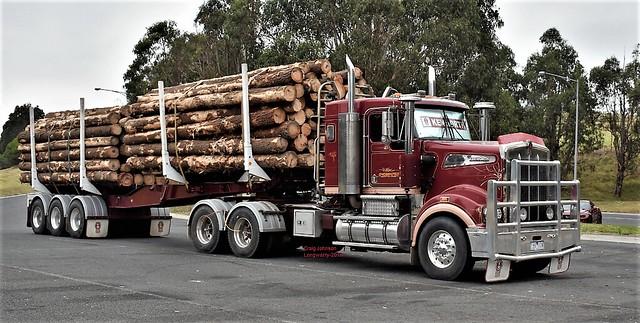 Logger Kenworth at Longwarry