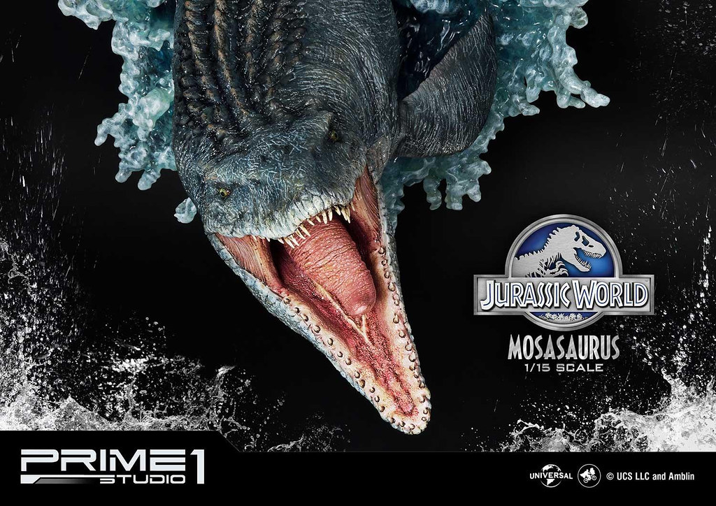 預告中最令人印象深刻的場面雕像化! Prime 1 Studio《侏羅紀世界》滄龍 モササウルス LMCJW2-06 1/15 比例場景雕像 普通版/EX版