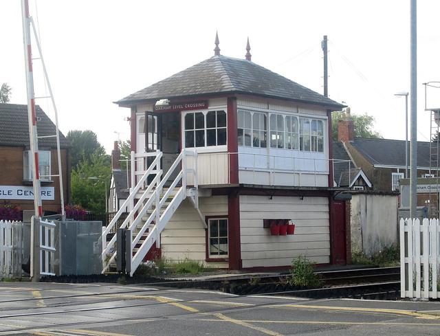 Oakham , signal box, Rutland