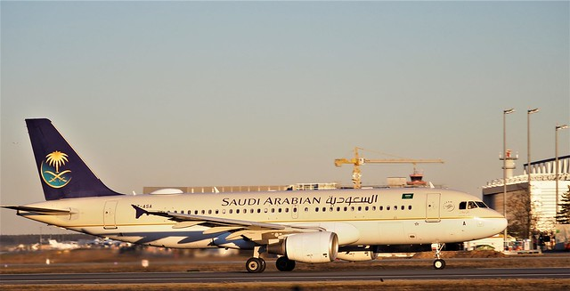 Saudi Arabian Airline - seen at the Airport Frankfurt, Germany