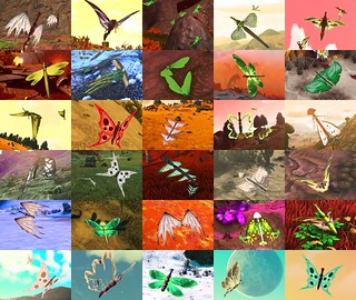 No Man's Sky Butterflies (Thirty Different Ones)