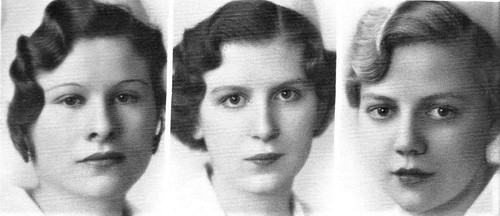 Finger wave hair design in 1934  at Holy Cross Hospital School of Nursing in Salt Lake City, Utah