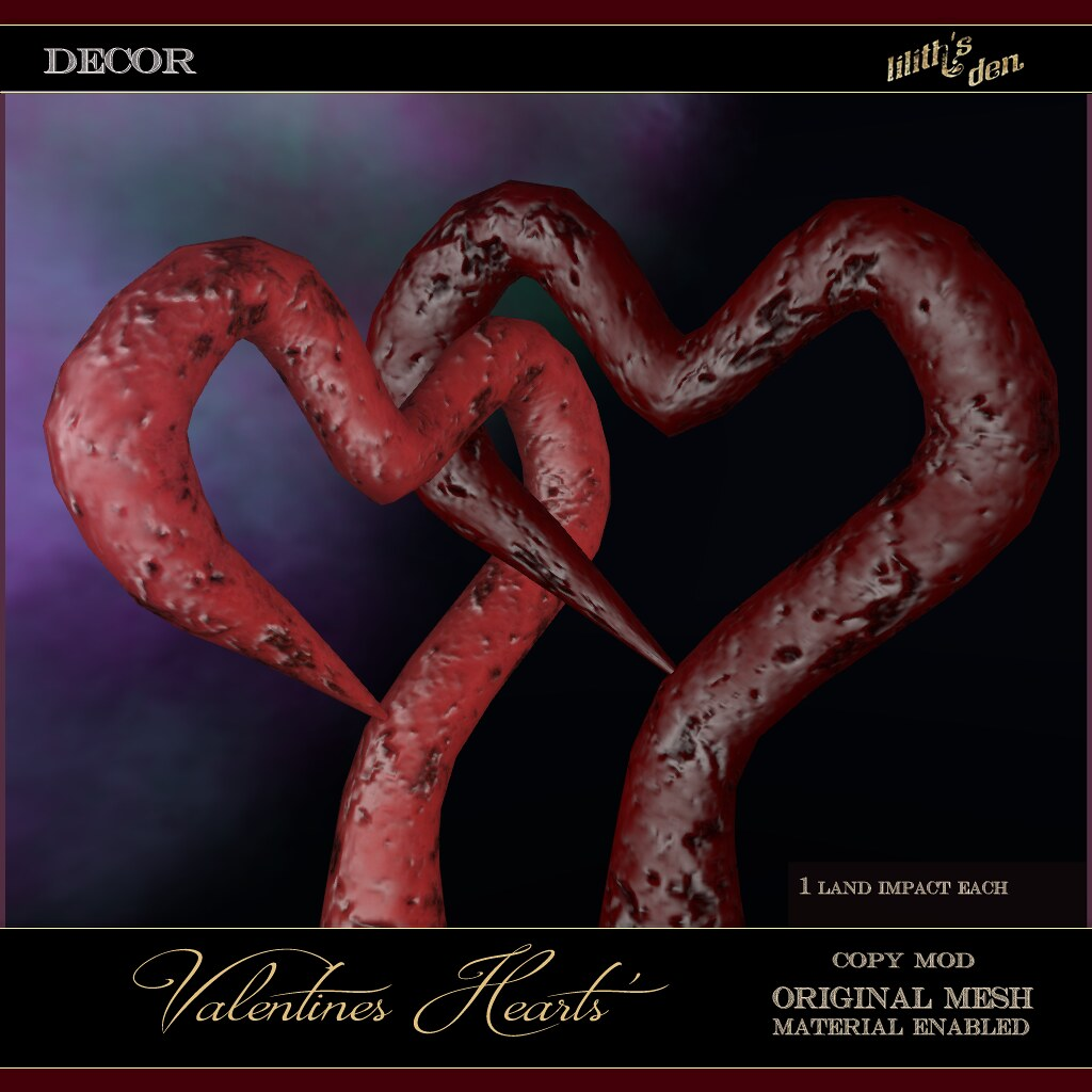 Lilith's Den – Lilith's Den – Valentines Heart Elements