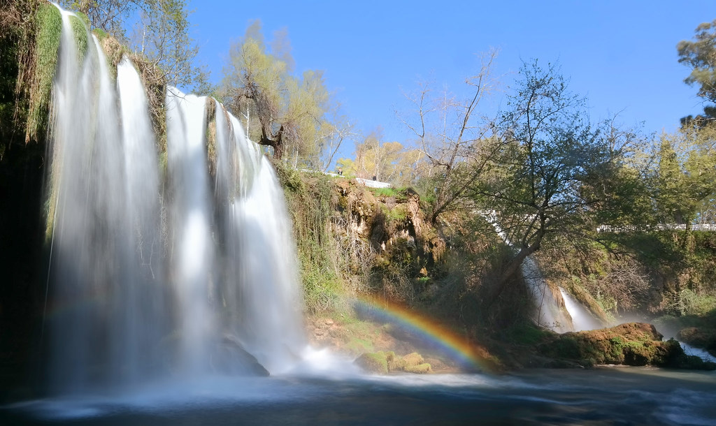 Rainbow at Duden Waterfall