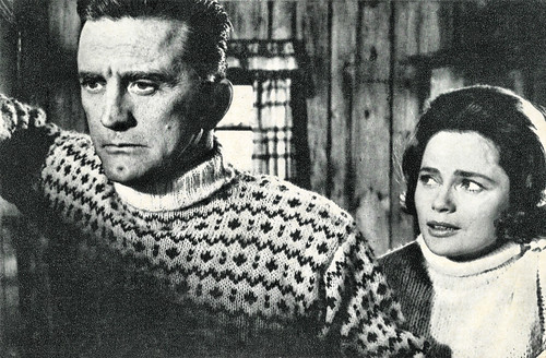 Kirk Douglas and Ulla Jacobsson in The Heroes of Telemark (1965)
