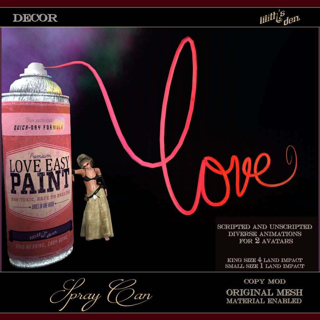 Lilith's Den – Spray Can – LOVE Easy Paint
