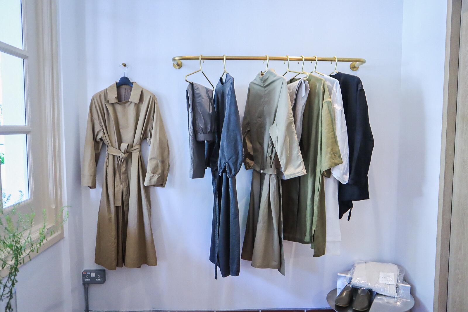 gather clothes rack
