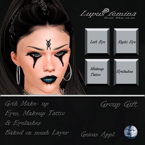 """Lupus Femina"" Goth Makeup Genus - Group Gift"