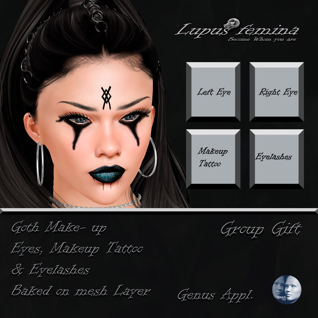 """Lupus Femina"" Goth Makeup Genus  – Group Gift"