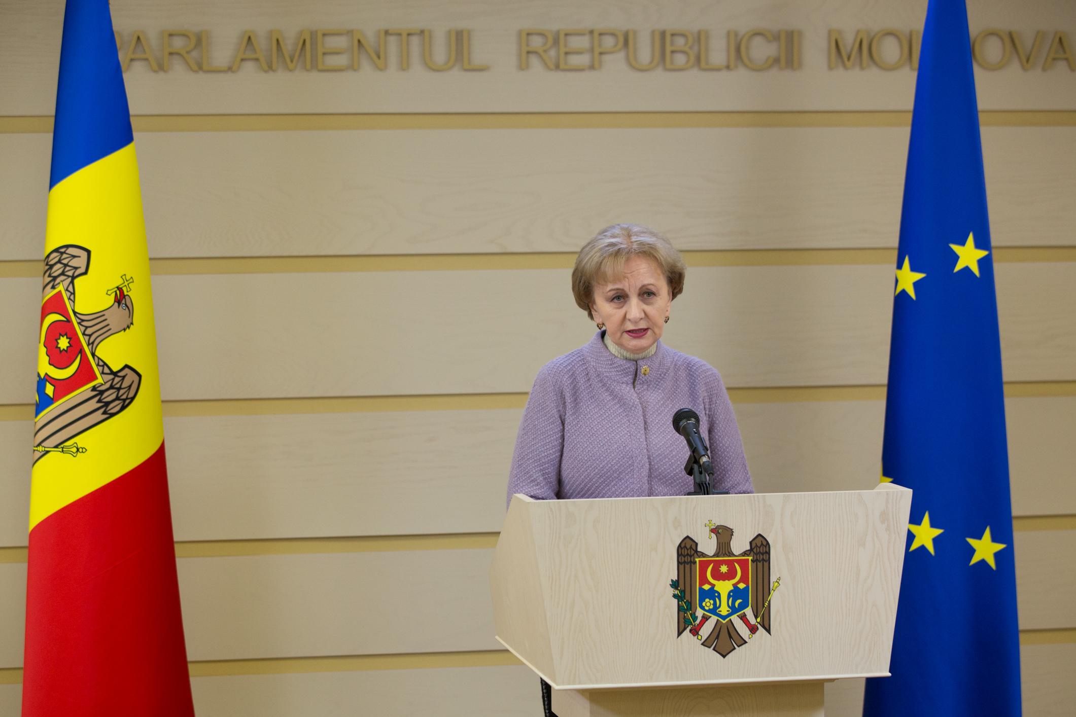 06.02.2020 Briefing al speakerului Zinaida Greceanîi privind prioritățile Parlamentului pentru sesiunea de primăvară 2020
