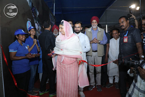 Satguru Mata Ji inaugurated SNCF Exhibition
