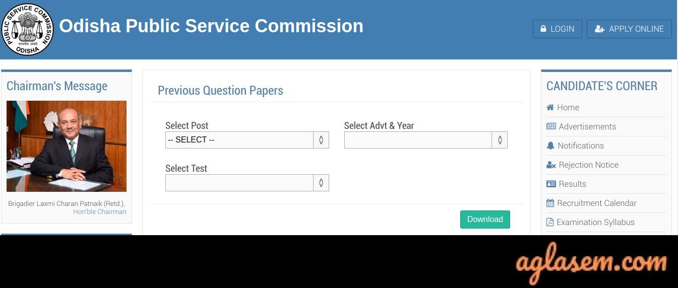 OPSC Civil Service Question Paper