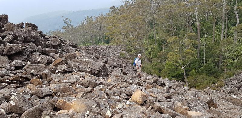 Dolerite boulder fields