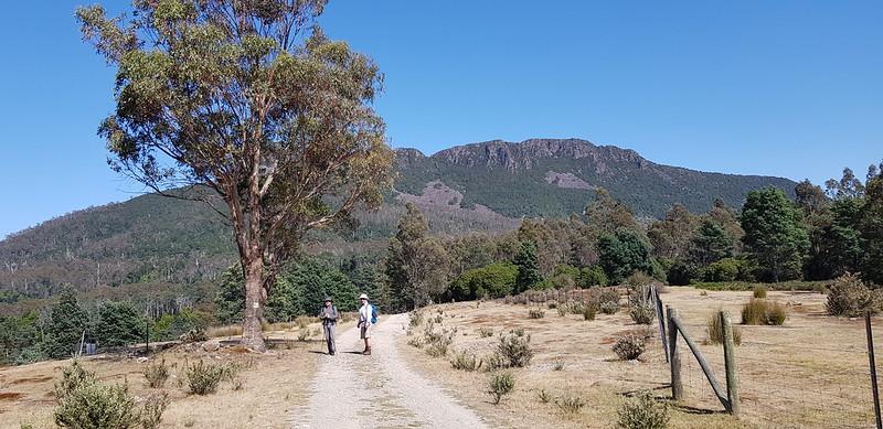 Walk start in Golden Valley Tasmania