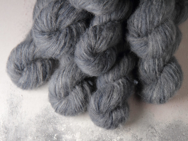 Fuzzy Lace – Brushed Baby Suri Alpaca & Silk hand dyed yarn 25g – 'Southbank'