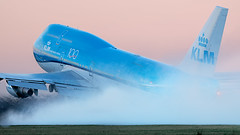 PH-BFV Baoing 747-400 of KLM departing Amsterdam Airport Schiphol