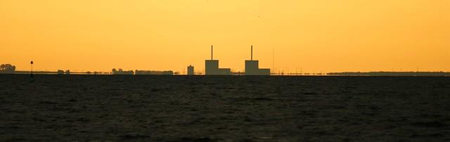 Sunrise over Sweden as seen from Copenhagen