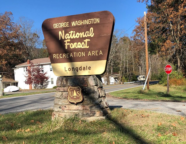Longdale Recreation Area sign