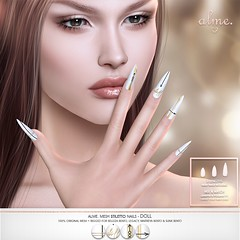 "Alme for Anthem Event - ""Alme mesh stiletto Nails/ Doll""♥"